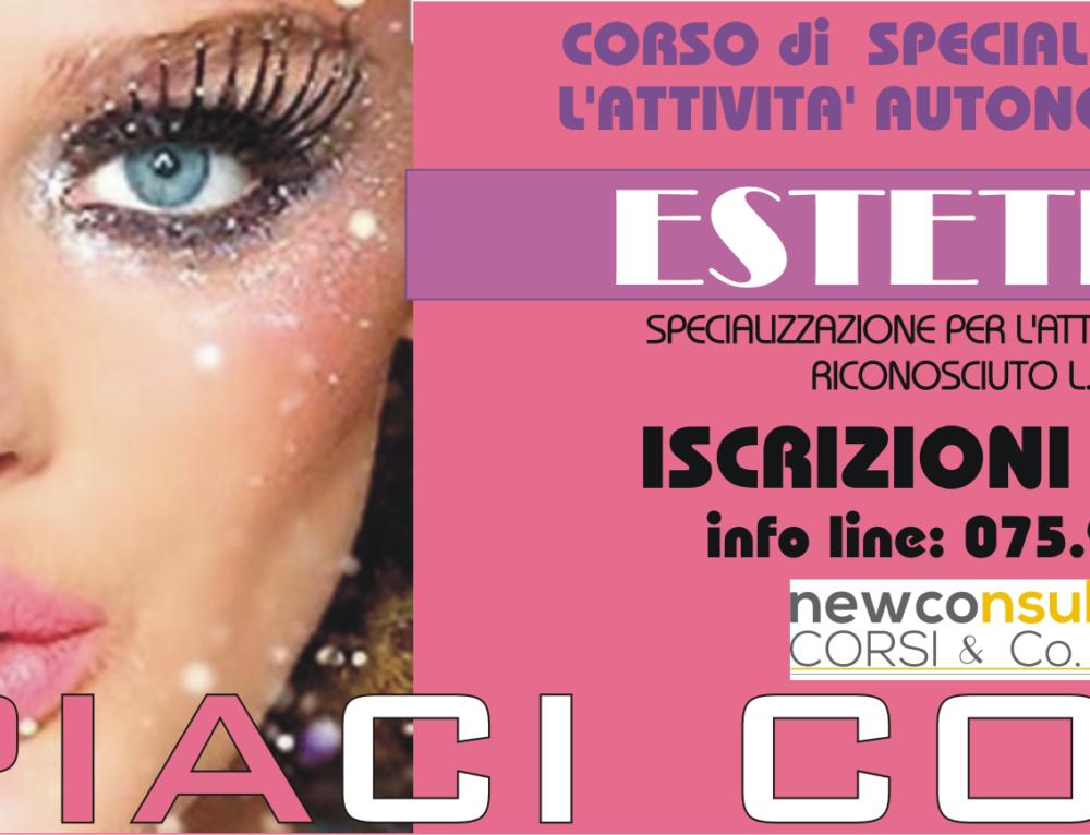 Estetista – specializzazione per l'attività autonoma (600 ORE) – (art.3 comma 1, lettera a) della L.n. 1/1990.